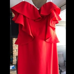 Symphony Fiesta Red Ruffle Gown
